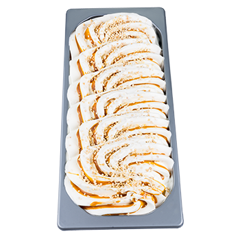 Roasted almond flavor<br><small>with toffee sauce</small>